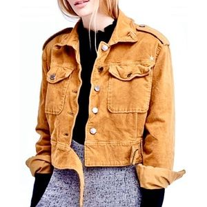 Free People Mustard Jacket